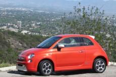 2013 Fiat 500e electric car, Los Angeles drive event, April 2013