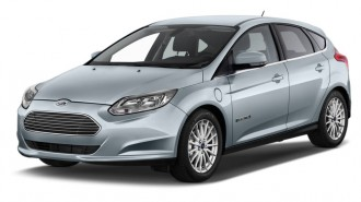 2013 Ford Focus Electric 5dr HB Angular Front Exterior View