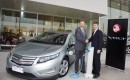 2013 Holden Volt with Better Place Charge Spot and executives from both companies