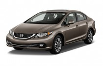 2013 Honda Civic 4-door Auto EX-L Angular Front Exterior View