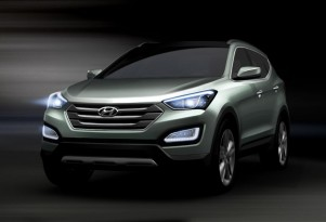 2013 Hyundai Santa Fe Crossover: Teaser Images Prior To New York Auto Show Debut