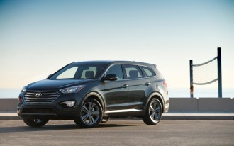 Three-Row 2013 Hyundai Santa Fe Priced Below Explorer, Pathfinder