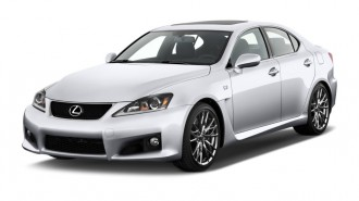 2013 Lexus IS F 4-door Sedan Angular Front Exterior View