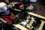 2013 Lotus F1 car with the Daft Punk logo