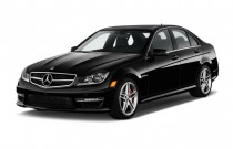2013 Mercedes-Benz C Class 4-door Sedan C63 AMG RWD Angular Front Exterior View