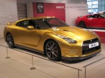Nissan GT-R Usain Bolt special edition, Nissan headquarters lobby, Yokohama, Japan