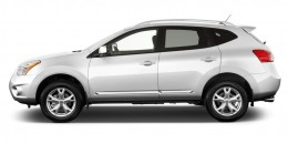 2013 Nissan Rogue FWD 4-door SV Side Exterior View