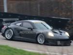 2013 Porsche 911 GT3 RSR (Type 991) race car spy shots
