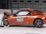 2013 Scion FR-S in IIHS crash testing