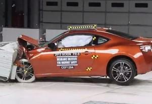 2013 Scion FR-S in IIHS crash testing