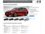 2014 BMW 3-Series Sport Wagon configurator website