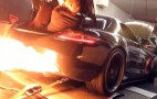Twin-Turbo Mercedes-Benz SLS AMG Shoots Massive Flames On The Dyno: Video