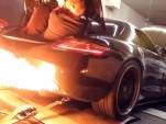 RADO Mercedes-Benz SLS AMG spits flames on the dyno