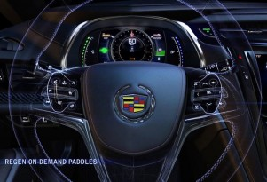 2014 Cadillac ELR 'Regen on Demand' paddle shifters