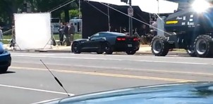 2014 Chevrolet Corvette Stingray on the set of Captain America: The Winter Soldier