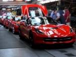 2014 Chevrolet Corvette Stingray production line