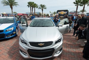 2014 Chevrolet SS at its debut at the Daytona International Speedway