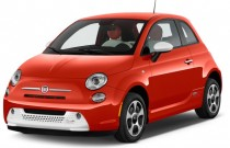 2014 FIAT 500e 2-door HB BATTERY ELECTRIC Angular Front Exterior View