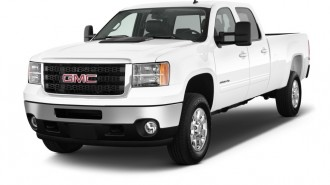 "2014 GMC Sierra 2500HD 2WD Crew Cab 153.7"" Work Truck Angular Front Exterior View"