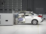 2014 Kia Forte  -  rated POOR in IIHS small overlap frontal impact test