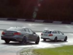 2014 Mercedes-Benz E63 AMG Sedan and Wagon at a track