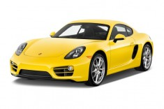 2014 Porsche Cayman 2-door Coupe Angular Front Exterior View
