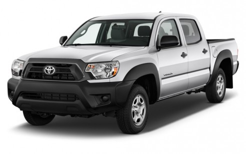 2014 Toyota Tacoma 2WD Double Cab I4 AT (Natl) Angular Front Exterior View