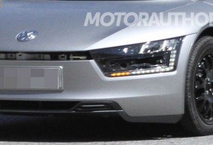 Prototype 2014 Volkswagen XL1 Ultra-Efficient Car Spied Testing