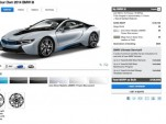 2015 BMW i8 online configurator