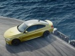 2015 BMW M4 drifts atop an aircraft carrier
