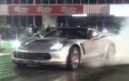 2015 Chevy Corvette Z06 Does Burnout, Then Runs The Quarter Mile: Video