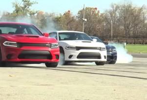 2015 Dodge Charger SRT Hellcat burnout video