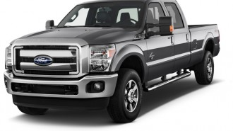 "2015 Ford Super Duty F-350 SRW 4WD Crew Cab 156"" Lariat Angular Front Exterior View"
