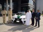 2015 Lexus RC F police car in Dubai