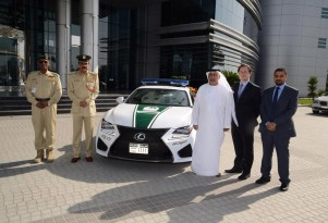 2015 Lexus RC F police car in Dubai