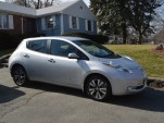 2015 Nissan Leaf outside home  [photo: John C. Briggs]