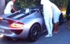 Porsche 918 Spyder Driver Showing Off Crashes In Car Park: Video