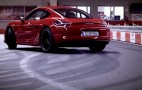 2015 Porsche Cayman GTS Meets A Go-Kart Track: Video