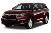 2015 Toyota Highlander FWD 4-door V6 Limited Platinum (Natl) Angular Front Exterior View