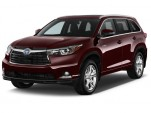 2015 Toyota Highlander Hybrid 4WD 4-door Limited (Natl) Angular Front Exterior View