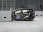 2015 Toyota Prius C IIHS small-overlap front crash test