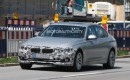 2016 BMW 3-Series long-wheelbase model facelift spy shots - Image via S. Baldauf/SB-Medien