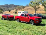 2016 Chevrolet Colorado Diesel pulling Chevy Corvette
