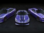 2016 Dodge Charger Hellcat, Viper, and Challenger Hellcat in Plum Crazy