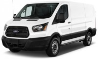 "2016 Ford Transit Cargo Van T-150 130"" Low Rf 8600 GVWR Swing-Out RH Dr Angular Front Exterior View"