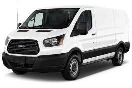 """2016 Ford Transit Cargo Van T-150 130"""" Low Rf 8600 GVWR Swing-Out RH Dr Angular Front Exterior View"""