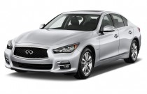 2016 Infiniti Q50 4-door Sedan Hybrid RWD Angular Front Exterior View