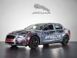 2016 Jaguar XE prototype with clear bodywork