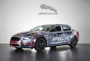 2016 Jaguar XE prototype with clear bodywork