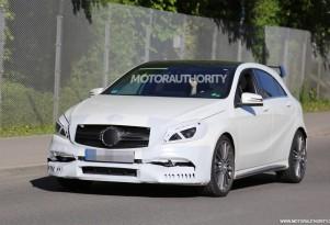 2016 Mercedes-AMG A45 spy shots - Image via S. Baldauf/SB-Medien